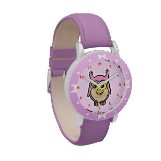 Búho lindo del bebé relojes de pulsera