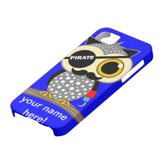 búho lindo del pirata funda para iPhone 5 barely there
