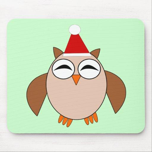 Búho lindo Mousepad del navidad Alfombrilla De Raton