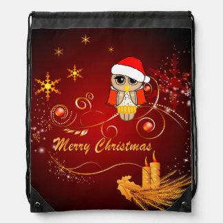 Búho lindo, navidad mochilas