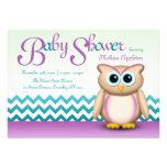 Búho lindo - púrpura y fiesta de bienvenida al beb comunicado personal