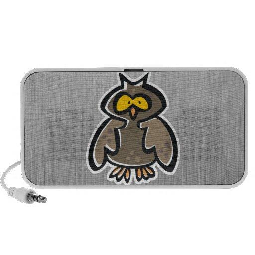 Búho; Metal-mirada cepillada Laptop Altavoces