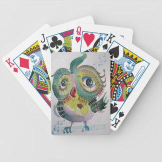 Búho musical barajas de cartas