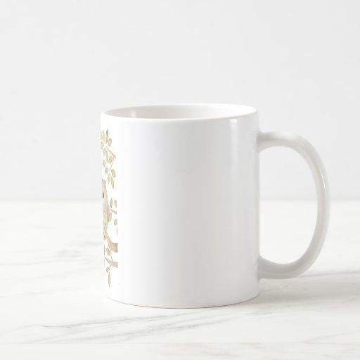 Búho musical del árbol taza de café