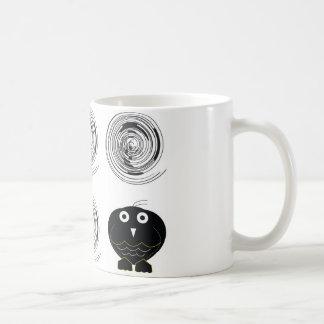 búho negro 0312 tazas de café