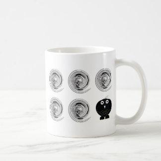 búho negro 0312 taza de café
