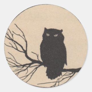 Búho negro - pegatina de Halloween