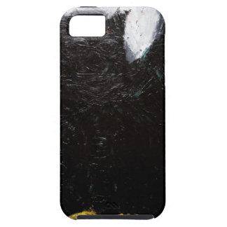 Búho negro (pintura animal del simbolismo) funda para iPhone 5 tough