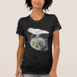 Búho Nevado en el claro de luna Camiseta