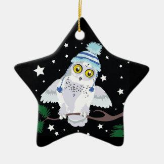 """¡Búho Nevado en pitido del gorra """"! """"ornamento del Ornaments Para Arbol De Navidad"""