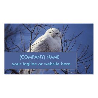 Búho Nevado, pájaro blanco contra un cielo azul Tarjetas De Visita