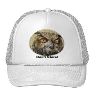 Búho - no mire fijamente gorras de camionero