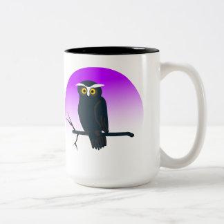 Búho oscuro tazas de café