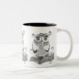 buho - owl Two-Tone coffee mug