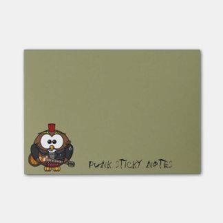 búho punky post-it notas