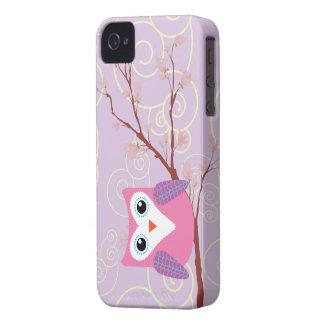 Búho púrpura Iphone femenino 4 casos Case-Mate iPhone 4 Protectores