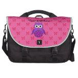 Búho púrpura lindo bolsas de portatil