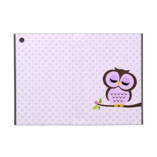 Búho púrpura lindo iPad mini fundas