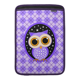 búho púrpura lindo fundas macbook air