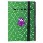 Búho púrpura lindo iPad mini protectores