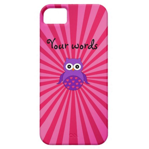 Búho púrpura lindo iPhone 5 Case-Mate funda