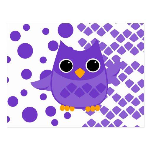 Búho púrpura postales