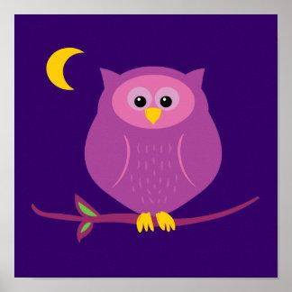 Búho púrpura poster