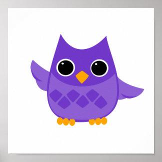 Búho púrpura póster