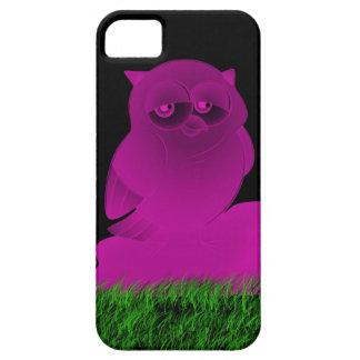 Búho púrpura soñoliento funda para iPhone SE/5/5s