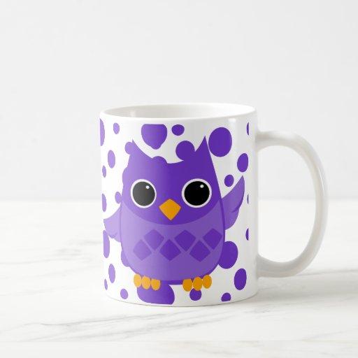 Búho púrpura taza clásica