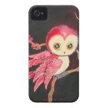 Búho rojo dulce carcasa para iPhone 4 de Case-Mate