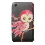 Búho rojo dulce Case-Mate iPhone 3 fundas