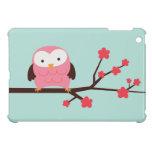 Búho rosado de la primavera iPad mini fundas