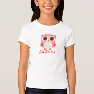 Búho rosado lindo, Siter grande, camisa de los