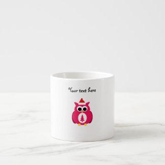 Búho rosado oscuro de santa tazitas espresso