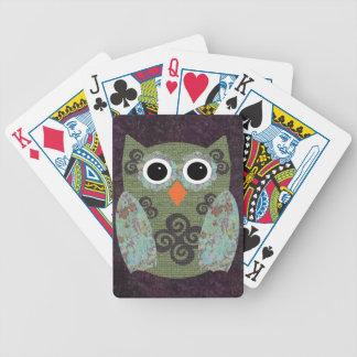 Búho Rosie del diseñador Baraja Cartas De Poker