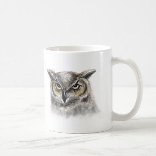 búho taza de café