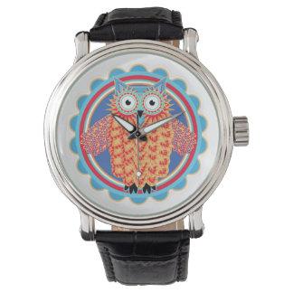Búho tribal relojes de pulsera