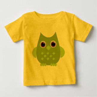 Búho verde camiseta