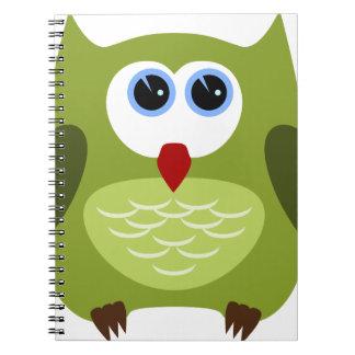 Buho verde cuaderno