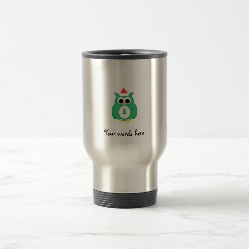 Búho verde de santa tazas