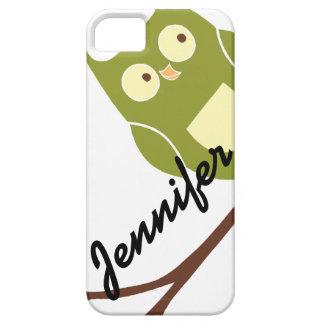 Búho verde lindo con el caso conocido del iPhone 5 iPhone 5 Carcasa