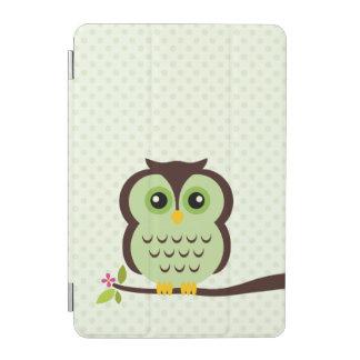 Búho verde lindo cover de iPad mini