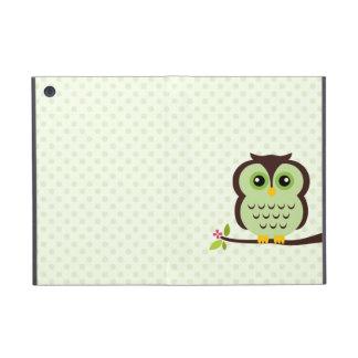 Búho verde lindo iPad mini fundas