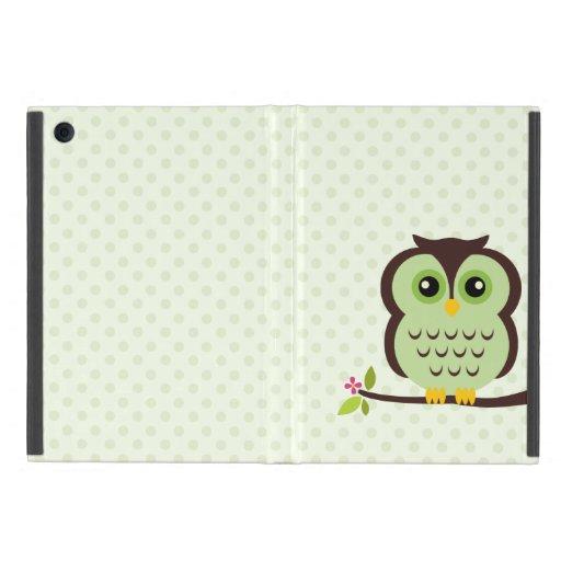 Búho verde lindo iPad mini coberturas