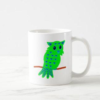Búho verde tazas de café