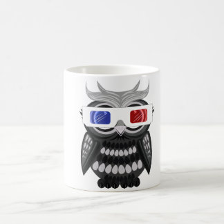 Búho - vidrios 3D Taza