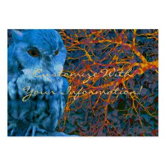 Búho vigilante fantasmagórico tarjetas de visita grandes