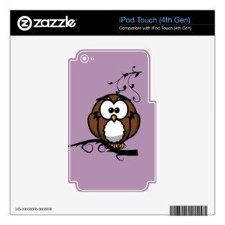 Búho Whooo Calcomanía Para iPod Touch 4G
