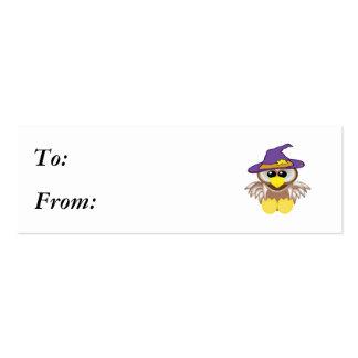 búho witchy de los goofkins tarjetas de visita mini